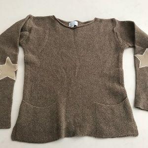 Designer cashmere wool blend girls sweater